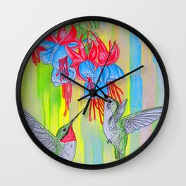 J Humming Bird Wall Clock