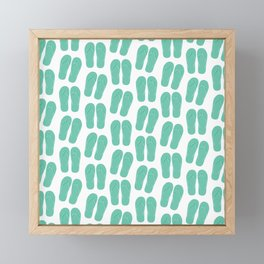 Flipflops pattern Framed Mini Art Print