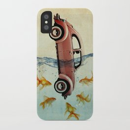 Bug and goldfish iPhone Case