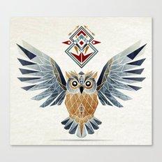 owl winter Canvas Print