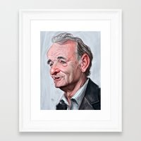 bill murray Framed Art Prints featuring Bill Murray by Mike Robinson Illustration