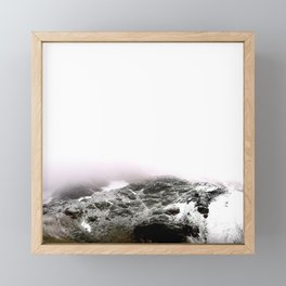 Winter comes to mountains Framed Mini Art Print