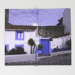 Home in Nazare Throw Blanket