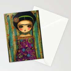 Frida In A Purple And Blue Dress Stationery Cards