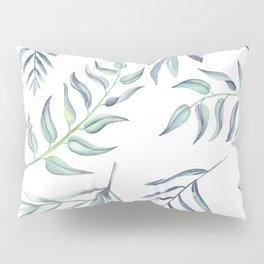 Floating Leaves Blue #society6 #buyart Pillow Sham