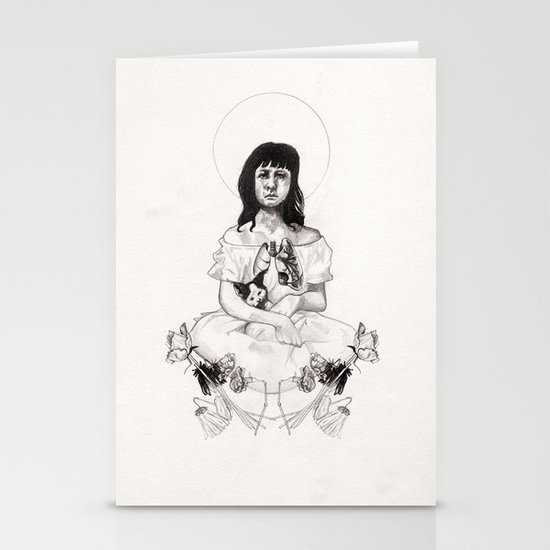 The Girl With Half a Lung Stationery Cards