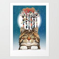 Feline Forest Art Print