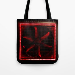 Red Turbo Tote Bag