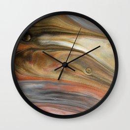 Fluid Nature - Metallic Flows - Abstract Acrylic Art Wall Clock