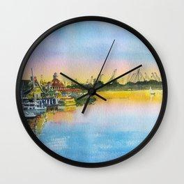 Sunset at Shoreline Village Wall Clock