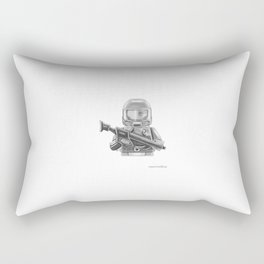 Future Warrior Rectangular Pillow
