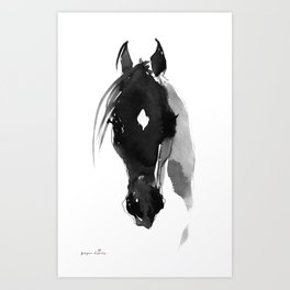 Horse (Star) Art Print