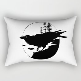 Raven Silhouette II Rectangular Pillow