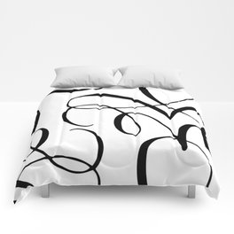 Curly Pattern 04 Comforters