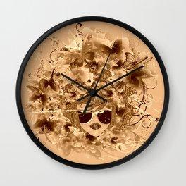 Sehnsucht nach dem Frühling Wall Clock