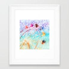 Galaxy Wheel Framed Art Print