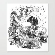 Moose Motor Cycles Canvas Print