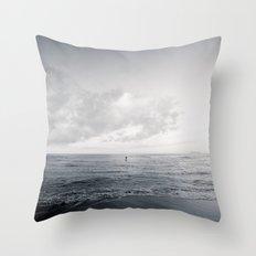 calm day ver.black Throw Pillow