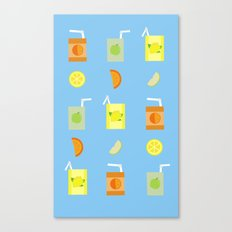 Juice Pattern Canvas Print