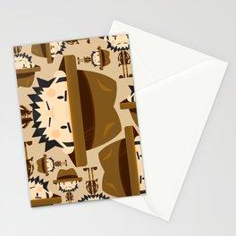 Cute Cartoon Safari Explorer Pattern Stationery Cards
