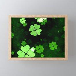 Shamrocks  St. Patrick's Day Framed Mini Art Print