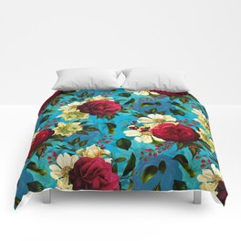 Vintage & Shabby Chic - Midnight Tropical Garden blue Comforters