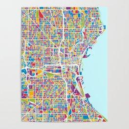 Milwaukee Wisconsin City Map Poster