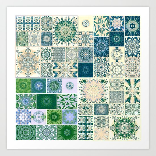 Spring pale Oriental rug Art Print
