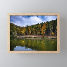 Autumn at the Lake Framed Mini Art Print