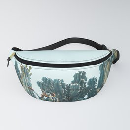Teal Cactus Fanny Pack