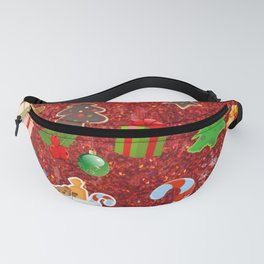 Cute Christmas Mix, red Fanny Pack