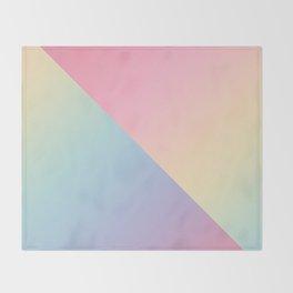 Geometric abstract rainbow gradient Throw Blanket