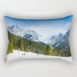 Winter Tatra Mountains Rectangular Pillow