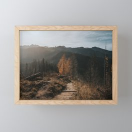Autumn Hike - Landscape and Nature Photography Framed Mini Art Print
