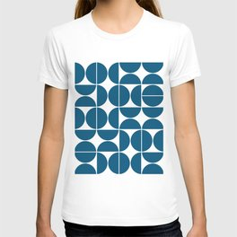 Mid Century Modern Geometric 04 Blue T-shirt