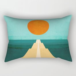 The Road Less Traveled Rectangular Pillow