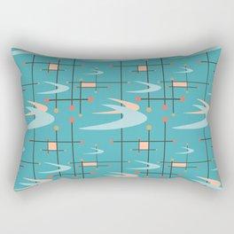 Mid Century Modern in Turquoise Rectangular Pillow