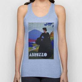 Abruzzo Italian travel Lady on a walk Unisex Tank Top