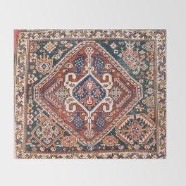 Qashqai Khorjin  Antique Fars Persian Bag Face Throw Blanket