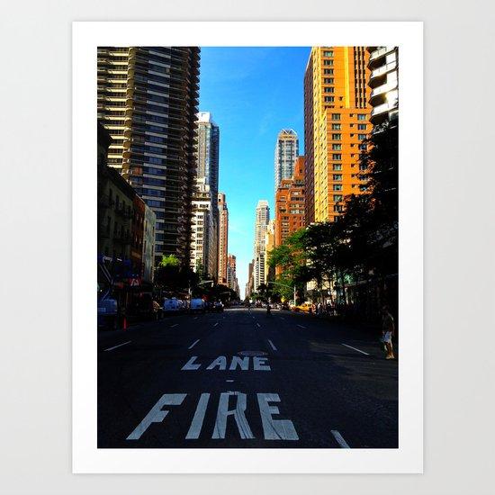 Street in NYC Art Print