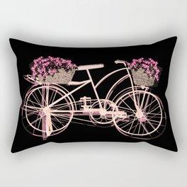 Pink bike Rectangular Pillow
