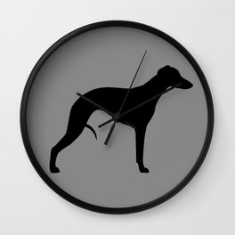 Black Whippet Silhouette Wall Clock
