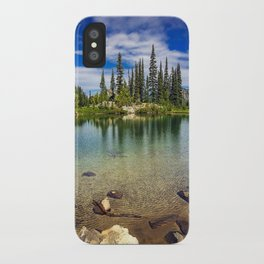 Mountain Lake in the Mt Rainier National Park iPhone Case