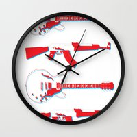 3d Wall Clocks featuring 3D by YEAH RAD STOKED
