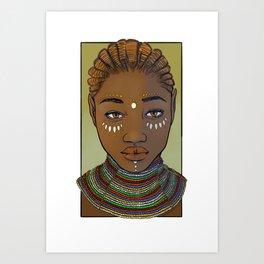 Al'Manda, Half-Elf Bard Art Print
