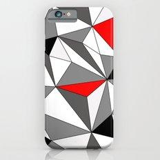 Geo - red, gray, black and white iPhone 6s Slim Case