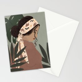 Girl in a Head Band Stationery Cards
