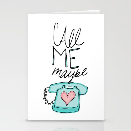 Call Me Maybe Stationery Cards