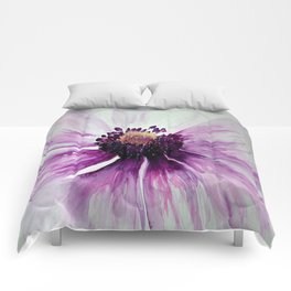 Sweet Anemone of Purple watercolor by CheyAnne Sexton Comforters