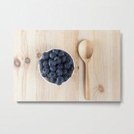 Fresh blueberries Metal Print